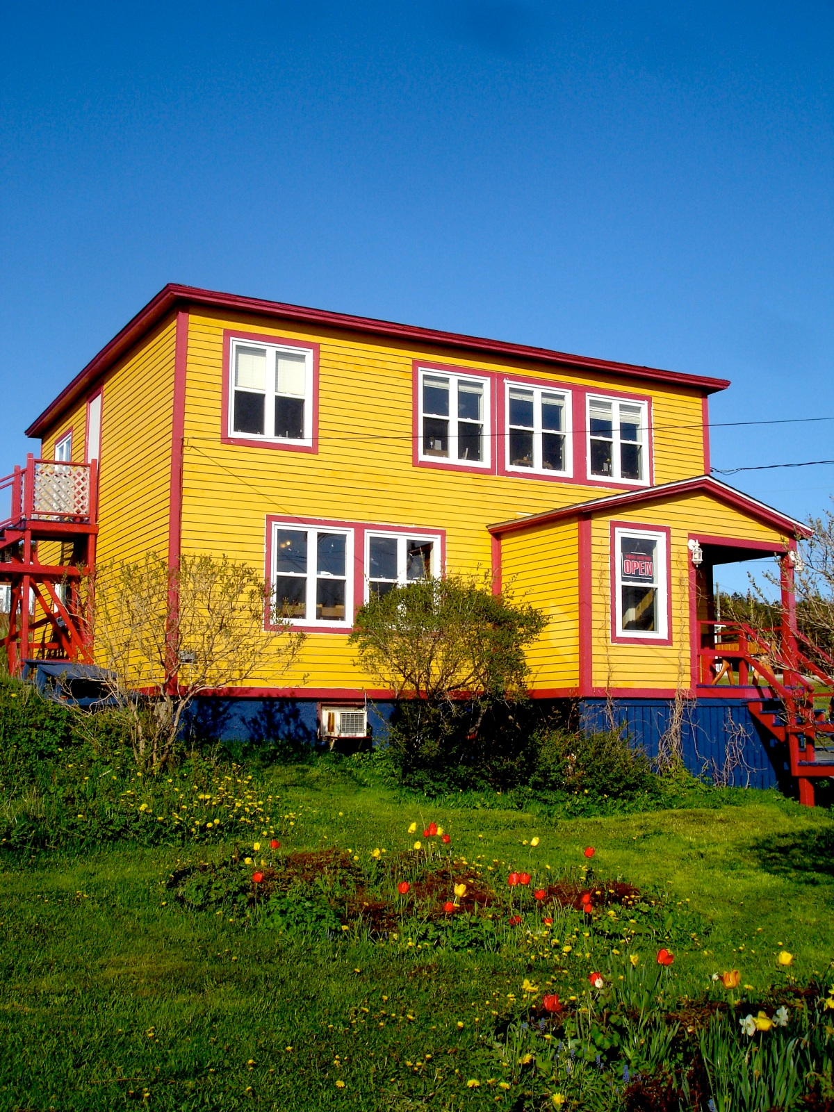 A Gros Morne spring warms the organic garden at Java Jack's Restaurant