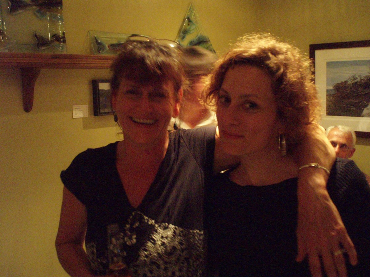 Jacqui Hunter and Sarah Harmer having a fun evening at Java Jack's
